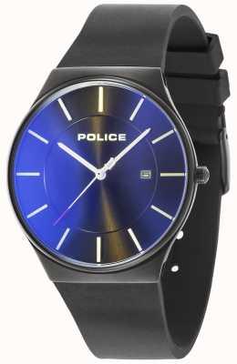 Police Herenhorloge van new horizon siliconen band zwart 15045JBCB/02PA