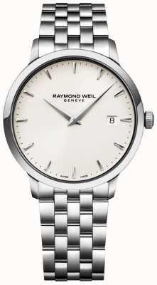 Raymond Weil Heren toccata horloge creme wijzerplaat roestvrij stalen armband 5488-ST-40001