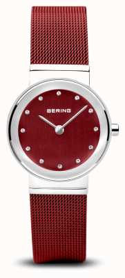 Bering Dames | klassiek | rode pvd stalen armband 10126-303