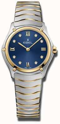 EBEL Klassieke sport voor dames | blauwe wijzerplaat | roestvrijstalen armband 1216446A