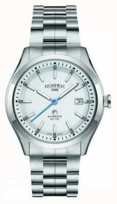 Roamer | automatisch rd100 | roestvrij stalen armband | witte wijzerplaat | 951660-41-25-90