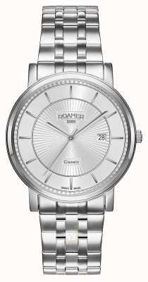 Roamer | klassieke lijn | roestvrij stalen armband | zilveren wijzerplaat | 709856-41-17-70