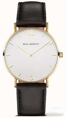 Paul Hewitt | unisex sailor line horloge | zwarte lederen band | 6450854