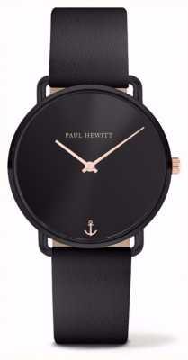 Paul Hewitt | dames missen oceaan | zwarte leren riem | PH-M-B-BS-32S