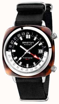 Briston Clubmaster gmt limited edition auto zwarte nato band 19842.SA.T.1.NB