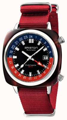 Briston Clubmaster gmt limited edition | automatisch | rode nato riem 19842.SA.T.P.NR