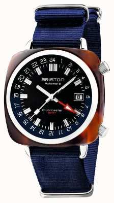 Briston Clubmaster gmt limited edition | automatisch | blauwe nato riem 19842.SA.T.9.NNB