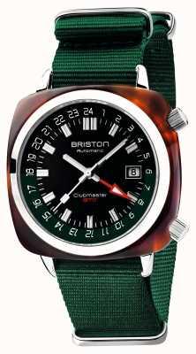 Briston Clubmaster gmt limited edition | auto | groene nato riem 19842.SA.T.10.NBG