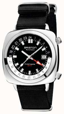 Briston Clubmaster gmt limited edition | auto | zwarte nato riem 19842.PS.G.1.NB