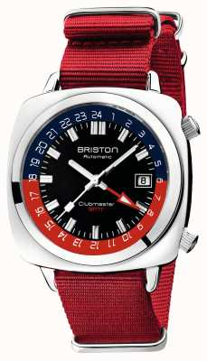 Briston Clubmaster gmt limited edition | automatisch | rode NAVO-band 19842.PS.G.P.NR