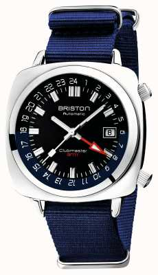 Briston Clubmaster gmt limited edition | auto | blauwe nato riem 19842.PS.G.9.NNB