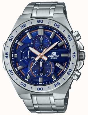 Casio   gebouw chronograaf   roestvrijstalen armband   blauwe wijzerplaat EFR-564D-2AVUEF
