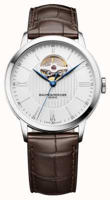 Baume & Mercier | heren classima | bruin leer | zilveren wijzerplaat | automatisch | M0A10274
