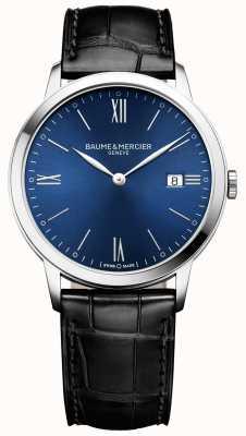 Baume & Mercier | heren classima | zwarte leren band | blauwe wijzerplaat | M0A10324