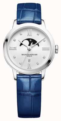 Baume & Mercier | classima voor dames | blauw leer | zilveren wijzerplaatwijzer BM0A10329