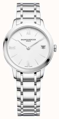 Baume & Mercier | classima voor dames | roestvrijstalen armband | witte wijzerplaat | M0A10335