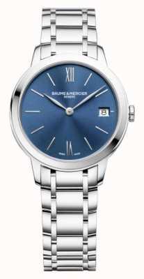 Baume & Mercier | Classima voor dames | roestvrij staal | blauwe zonnestraal wijzerplaat | M0A10477