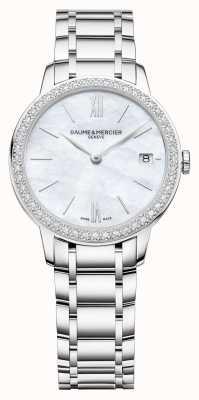 Baume & Mercier | Classima voor dames | diamanten ring | roestvrij stalen armband M0A10478