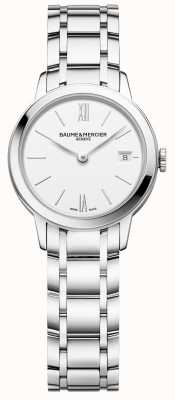 Baume & Mercier | Classima voor dames | roestvrij stalen armband | witte wijzerplaat | M0A10489