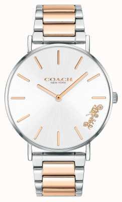 Coach | dames | perenwijn | tweekleurige armband | zilveren wijzerplaat | 14503346