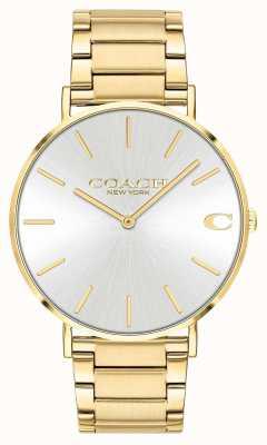 Coach | heren | Charles | gouden pvd armband | zilveren wijzerplaat | 14602430