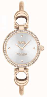 Coach | dames | park | rosé gouden armband | zilveren wijzerplaat | 14503447