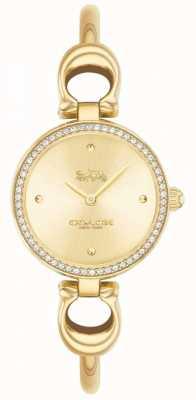 Coach | dames | park | gouden pvd armband | gouden wijzerplaat | 14503446