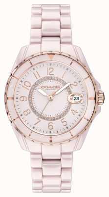 Coach | dames | preston | roze keramische armband | roze wijzerplaat | 14503463