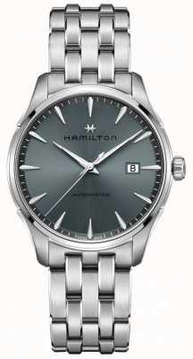 Hamilton | jazzmaster | roestvrijstalen armband | zwart / grijze wijzerplaat | H32451142
