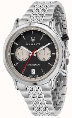 Maserati | epoca racing 42 mm | roestvrijstalen armband | zwarte wijzerplaat R8873638001