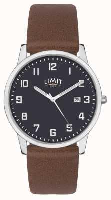 Limit | heren bruine lederen band | blauwe wijzerplaat | 5743.01