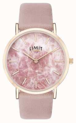 Limit | de geheime tuin van vrouwen | roze leren riem | roze wijzerplaat | 60050.73