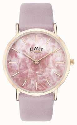 Limit | de geheime tuin van vrouwen | paarse lederen riem | roze wijzerplaat | 60051.73
