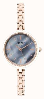 Limit   womens rose gouden armband   blauwe wijzerplaat   60064.01