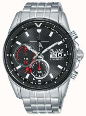 Pulsar | accelerator chronograaf | roestvrij staal | zwarte wijzerplaat | PZ6027X1