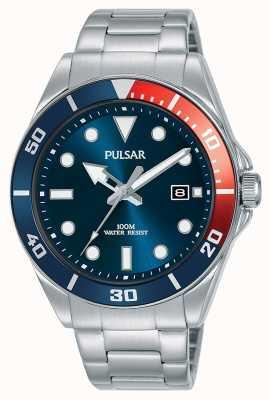 Pulsar   vrijetijdssport   roestvrijstalen armband   blauwe wijzerplaat   PG8291X1
