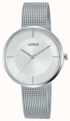 Lorus | de armband van het roestvrij staalnetwerk van vrouwen | zilveren wijzerplaat | RG257QX9
