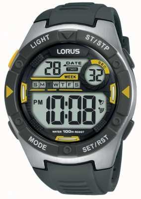 Lorus | heren sport digitaal | zwarte rubberen riem | R2397MX9