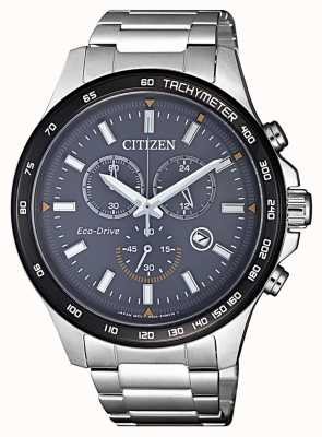 Citizen | heren eco-drive chronograaf | roestvrij stalen armband | AT2424-82H