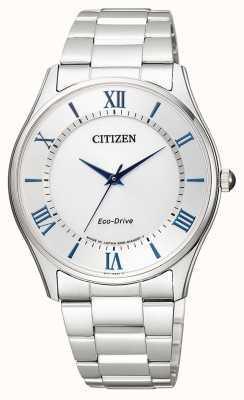 Citizen | mens eco-drive | roestvrijstalen armband | zilveren wijzerplaat | BJ6480-51B