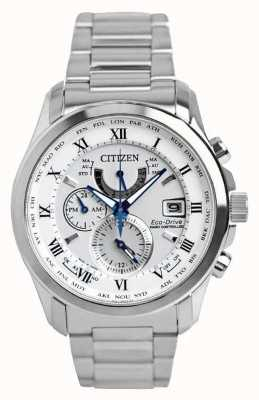 Citizen | mens eco-drive wereldtijd op | roestvrij stalen armband | AT9081-89A