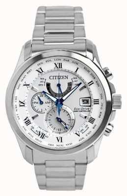 Citizen | mens eco-drive wereldtijd op | roestvrijstalen armband | AT9081-89A