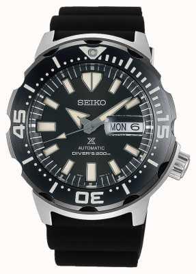 Seiko Prospex monster automatische duikers | zwarte rubberen band | SRPD27K1