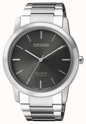 Citizen | mens eco-drive titanium wr50 | grijze wijzerplaat | AW2020-82H