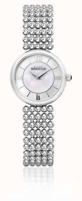 Michel Herbelin | vrouwen perle | zilveren armband | parelmoer wijzerplaat | 17483/B19