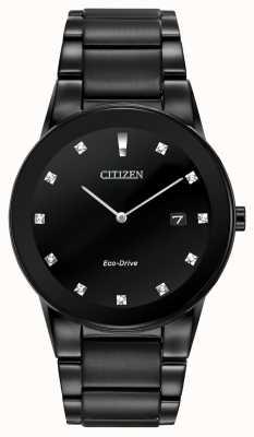 Citizen | mens axioma eco-drive | zwarte diamanten wijzerplaat | zwarte armband AU1065-58G