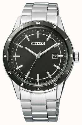 Citizen | mens eco-drive | roestvrij stalen armband | zwarte wijzerplaat | AW1164-53E