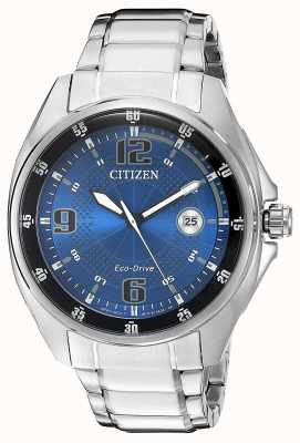Citizen | mens eco-drive | blauwe wijzerplaat | roestvrijstalen armband | AW1510-54L