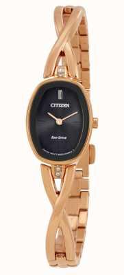 Citizen | silhouet eco-drive dames | gouden toonarmband EX1413-55E