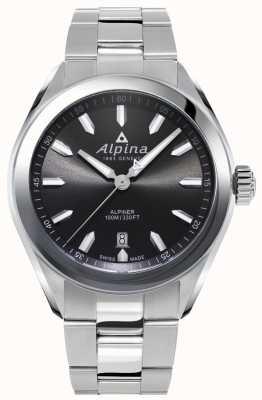 Alpina | mens alpiner | roestvrijstalen armband | grijze wijzerplaat | AL-240GS4E6B
